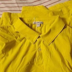 Men's yellow polo shirt
